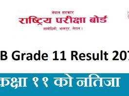 NEB Grade 11 Result 2076