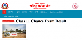 Grade 11 Chance Exam Result