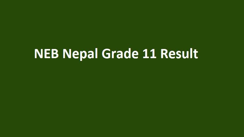 NEB Nepal Grade 11 Result