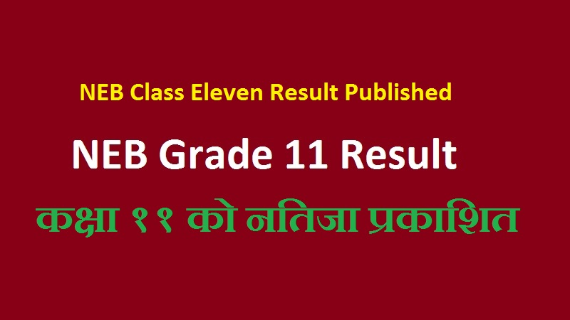 NEB Class Eleven Result Published