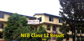 NEB Class 12 Result Date
