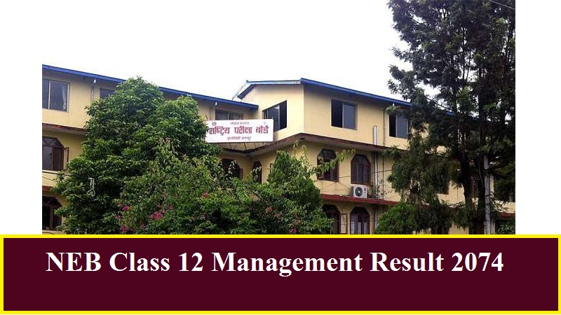 NEB Class 12 Management Result 2074