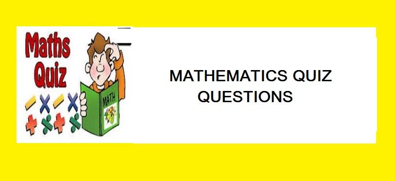 mathematics quiz questions