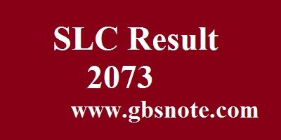 SLC result 2073