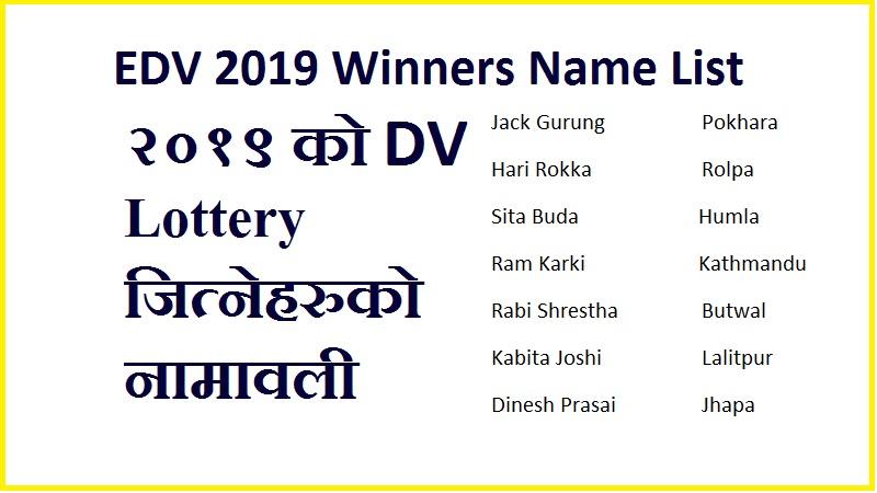 EDV 2019 Winners Name List