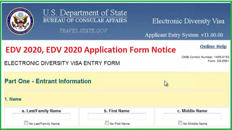 EDV 2020, EDV 2020 Application Form Notice - gbsnote online