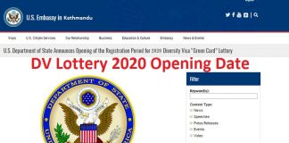 DV Lottery 2020 Opening Date