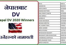 Nepal DV 2020 Winners