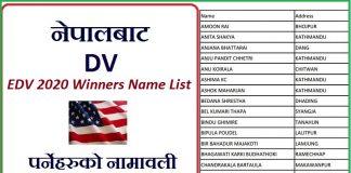 EDV 2020 Winners Name List DV Result 2020