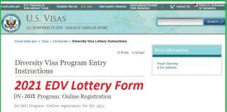 2021 EDV Lottery Form