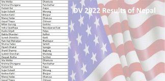 DV 2022 Results of Nepal