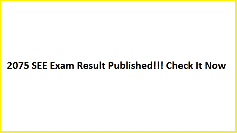 2075 SEE Exam Result