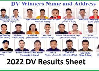 DV 2021 Result Page