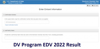 DV Program EDV 2022 Result