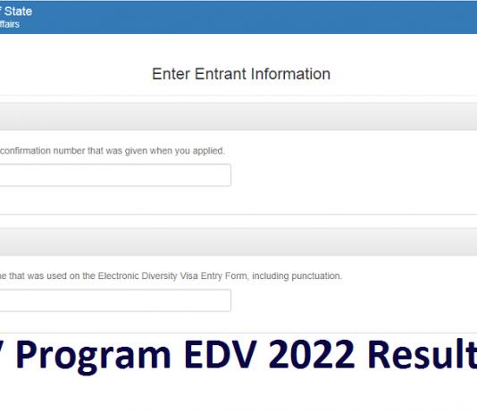 DV Program EDV 2022 Result