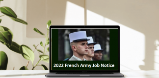2022 French Army Job Notice