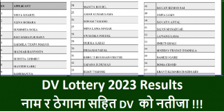 DV Lottery 2023 Results