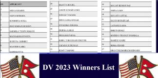 DV 2023 Winners List