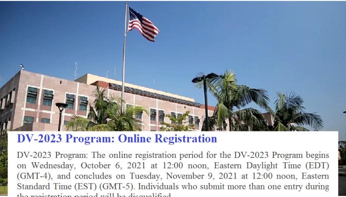 FY 2023 DV Lottery Registration Notice