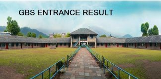 GBS Grade 4 Entrance Exam Result