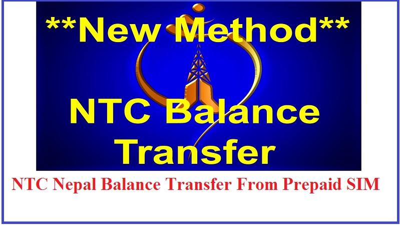 NTC Nepal Balance Transfer