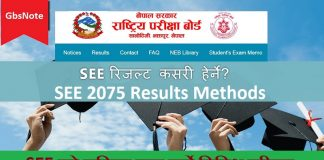 SEE 2075 Results Methods