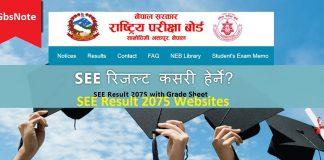 SEE Result 2075 Websites