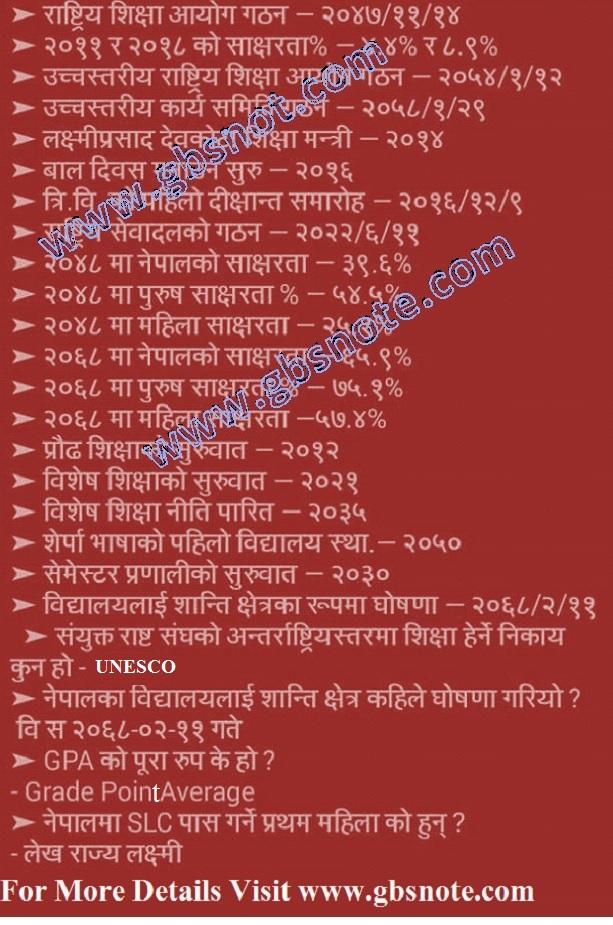 Teacher Service Commission Nepal Model Questions