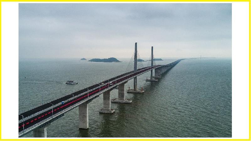 World longest sea bridge almost finished