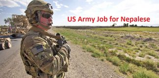 US Army Job for Nepalese
