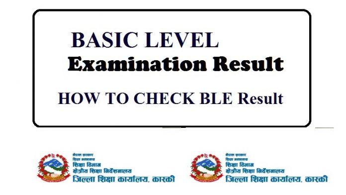 BLE Exam Online Result