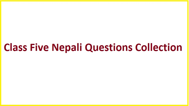 Class Five Nepali Questions Collection