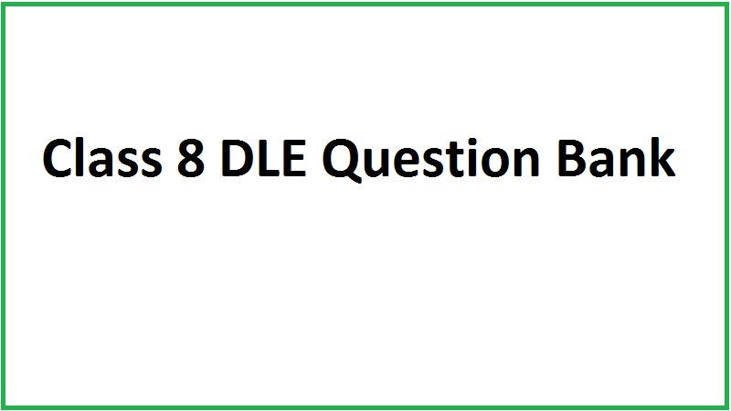 Class 8 DLE Question Bank