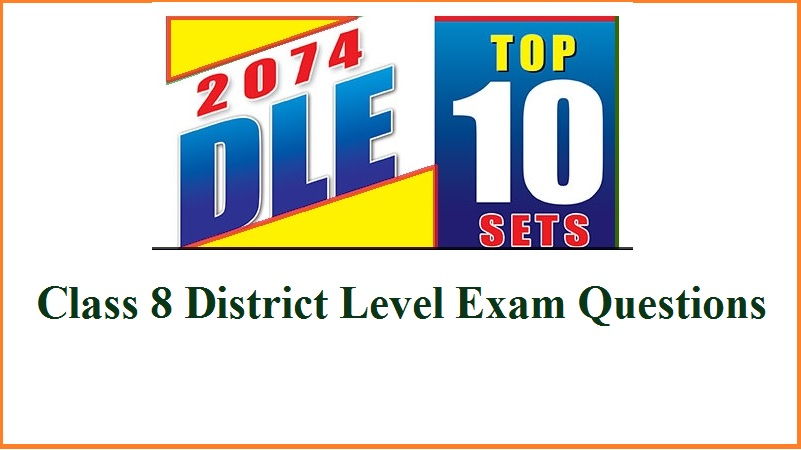 Class 8 District Level Exam Questions