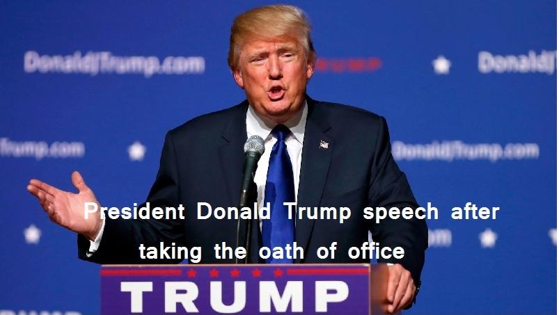 President Donald Trump speech