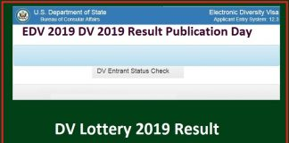 EDV 2019 DV 2019 Result Publication Day