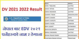 DV 2021 2022 Result
