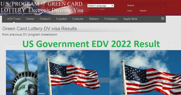 US Government EDV 2022 Result