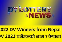 2022 DV Winners from Nepal