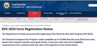 EDV 2023 Form Registration Notice
