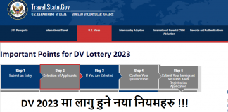 Important Points for DV Lottery 2023