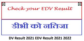 DV Result 2021 EDV Result