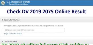 DV 2019 2075 Online Result