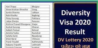 Diversity Visa 2020 Results
