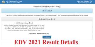 EDV 2021 Result Details