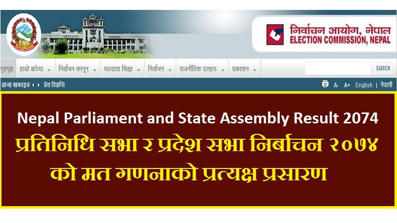 Nepal Parliament State Assembly Result 2074