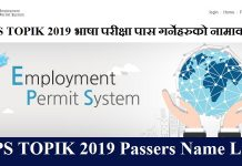 EPS TOPIK 2019 Passers Name
