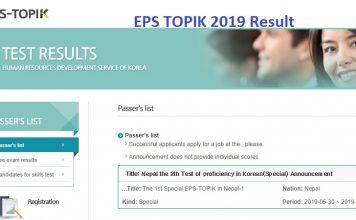EPS TOPIK 2019 Result
