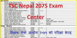 TSC Nepal 2075 Exam Center