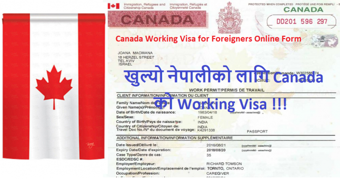 Canada Working Visa for Foreigners